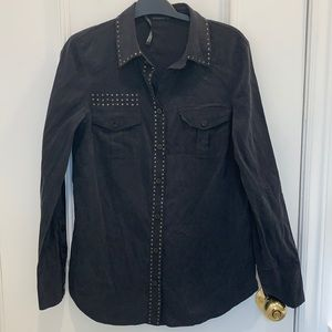 Mackage Collection Studded Blouse Size L